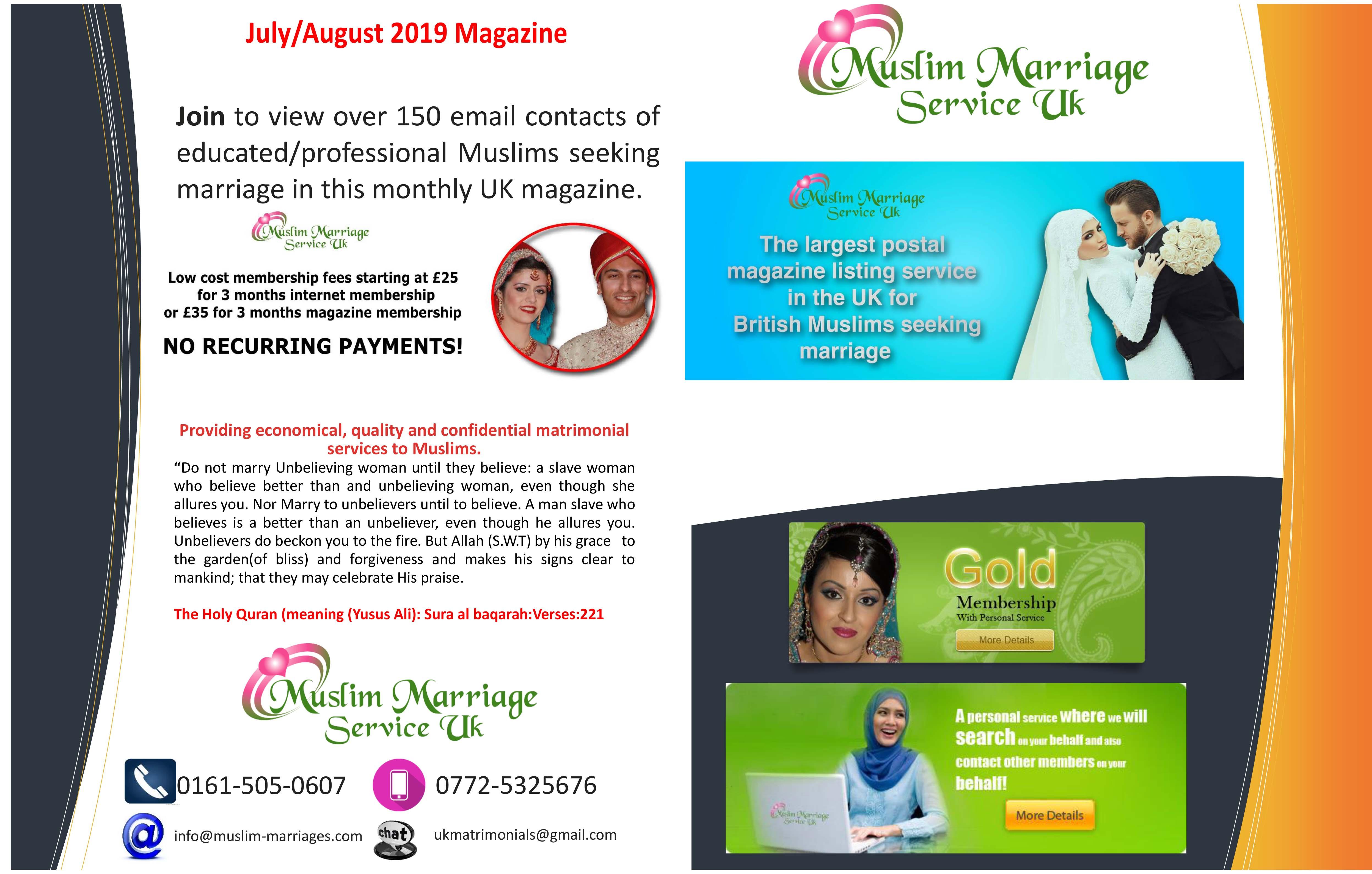 Muslim Marriage Service magazine of proposals | Single Muslim